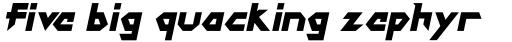 DokterBryce Black Italic sample