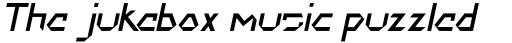 DokterBryce Italic sample