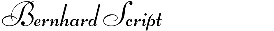 Click to view  Bernhard Script font, character set and sample text