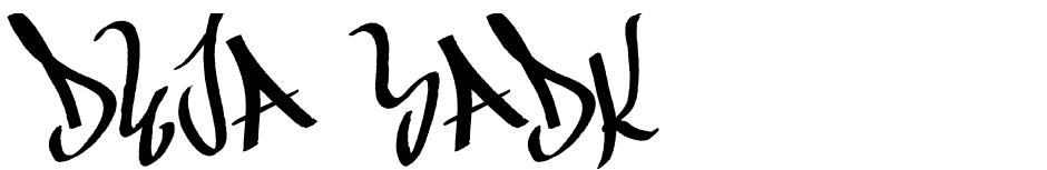 Click to view  DEJA SADK font, character set and sample text