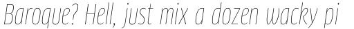 FF Clan Pro Condensed Thin Italic sample
