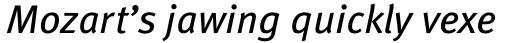FF Meta OT Book Italic sample