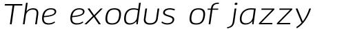 FF Clan Pro Wide Italic sample