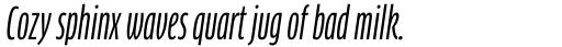 FF Clan Std Compressed News Italic sample