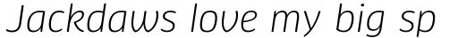 FF Clan Pro Italic sample