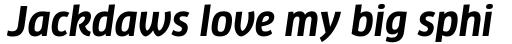 FF Clan Std Narrow Bold Italic sample