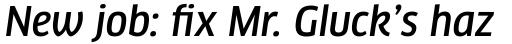 FF Clan Pro Narrow Medium Italic sample