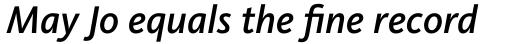 FF Kievit OT Medium Italic sample