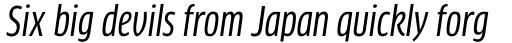 FF Clan Std Condensed News Italic sample