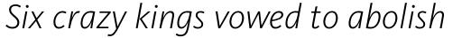FF Kievit Pro Light Italic sample