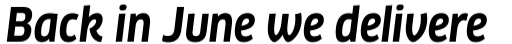 FF Clan Std Bold Italic sample