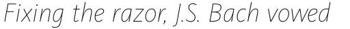 FF Kievit Pro Thin Italic sample