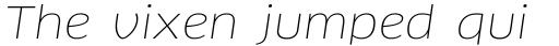 FF Clan Std Wide Thin Italic sample