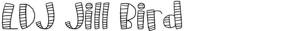 Click to view  LDJ Jill Bird font, character set and sample text