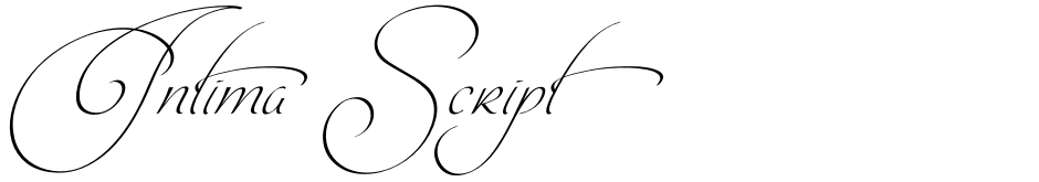 Click to view  Intima Script font, character set and sample text
