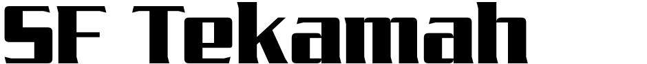 Click to view  SF Tekamah font, character set and sample text
