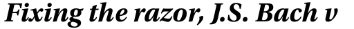 Utopia Bold Italic sample