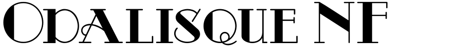 Click to view  Odalisque NF font, character set and sample text