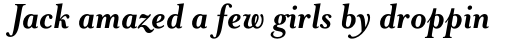 Mrs Eaves Bold Italic sample