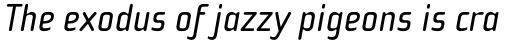 Cholla Sans Italic sample