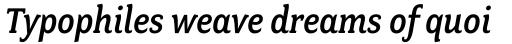 Fairplex Narrow Medium Italic sample
