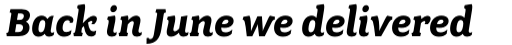 Fairplex Wide Bold Italic sample