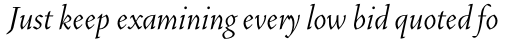 Vendetta Light Italic sample