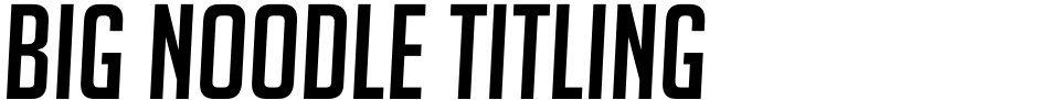 Click to view  Big Noodle Titling font, character set and sample text