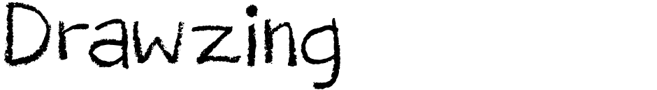 Click to view  Drawzing font, character set and sample text