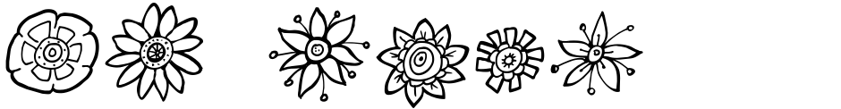 Click to view  DB Flower Power font, character set and sample text