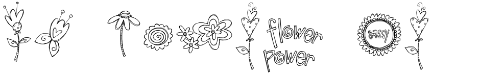 Click to view  DB Girly Flowers font, character set and sample text