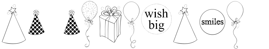 Click to view  DB Birthday Cheer font, character set and sample text
