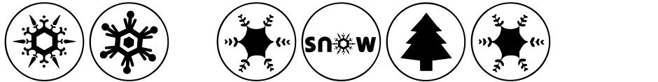 Click to view  DB Circles - 'Tis The Season font, character set and sample text