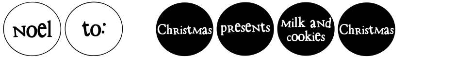 Click to view  DB Circles - Christmas font, character set and sample text