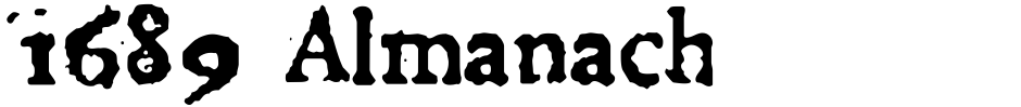 Click to view  1689 Almanach font, character set and sample text