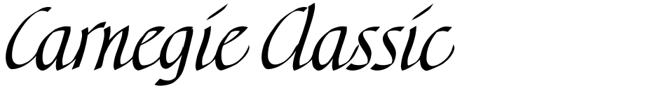 Click to view  Carnegie Classic font, character set and sample text