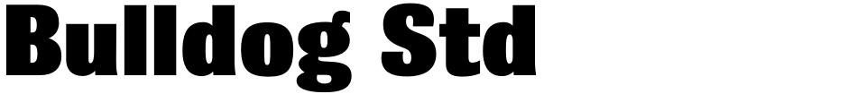 Click to view  Bulldog Std font, character set and sample text