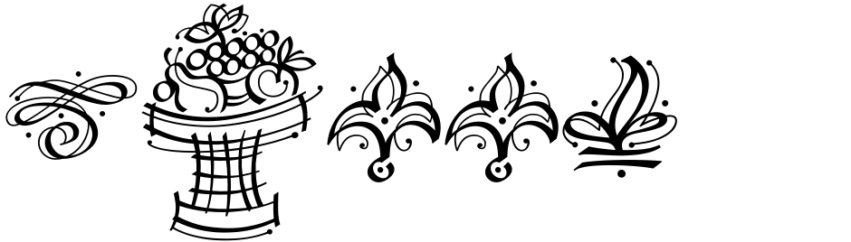 Click to view  Calligraphic Ornaments font, character set and sample text