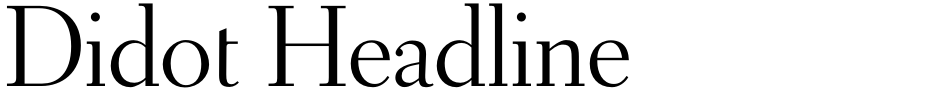 Click to view  Didot Headline font, character set and sample text
