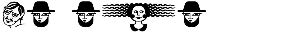 Click to view  Vataga font, character set and sample text