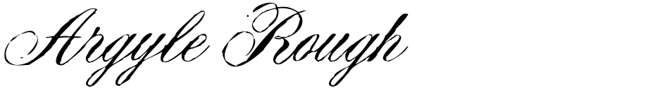Click to view  Argyle Rough font, character set and sample text