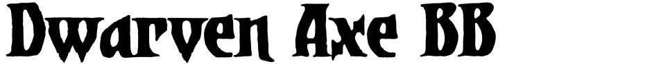 Click to view  Dwarven Axe BB font, character set and sample text