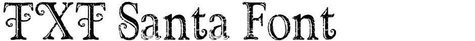 Click to view  TXT Santa Font font, character set and sample text