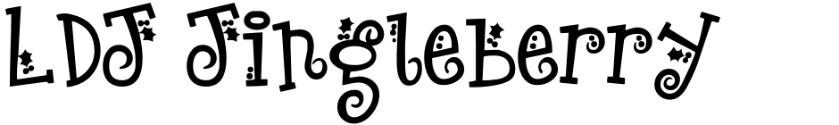 Click to view  LDJ Jingleberry font, character set and sample text