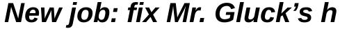 Ascender Sans WGL Bold Italic sample