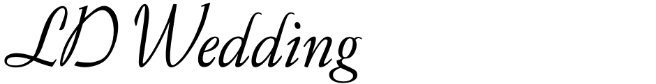 Click to view  LD Wedding font, character set and sample text