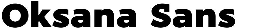 Click to view  Oksana Sans font, character set and sample text
