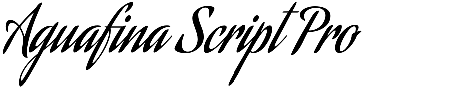 Click to view  Aguafina Script Pro font, character set and sample text