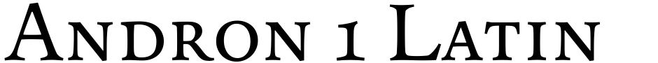 Click to view  Andron 1 Latin Corpus font, character set and sample text