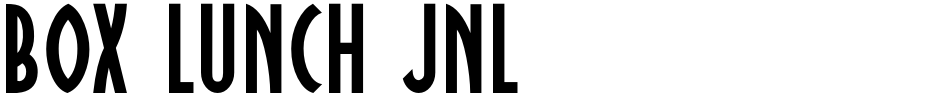 Click to view  Box Lunch JNL font, character set and sample text